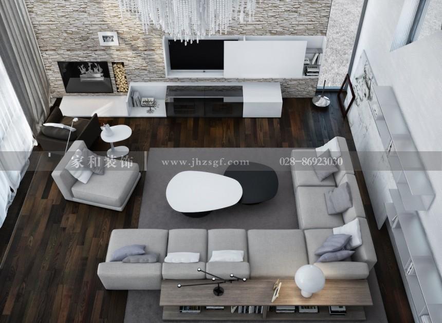 龙湖三千集北欧风格2居95㎡装修案例