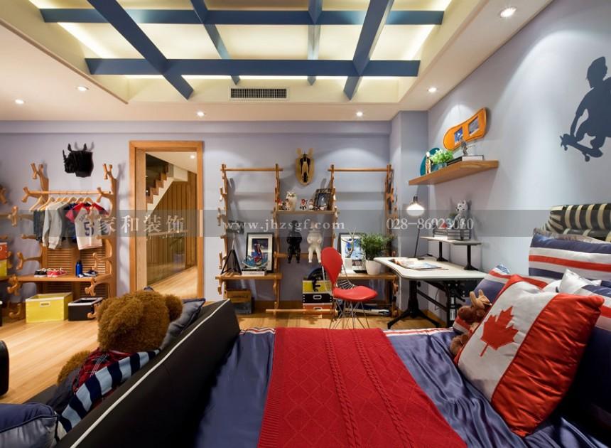 月映长滩现代美式风格320㎡别墅装修案例