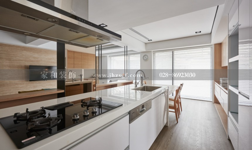 香木林新城现代风三居室126㎡装修案例