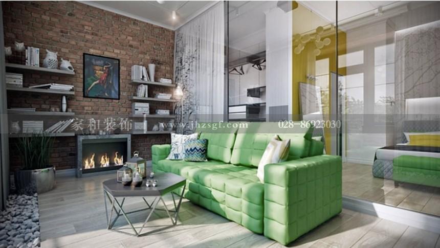 萧邦公寓混搭风格套一50m²装修案例