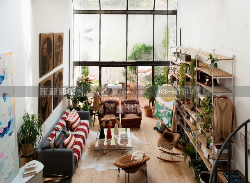 观城后现代三室98㎡装修案例