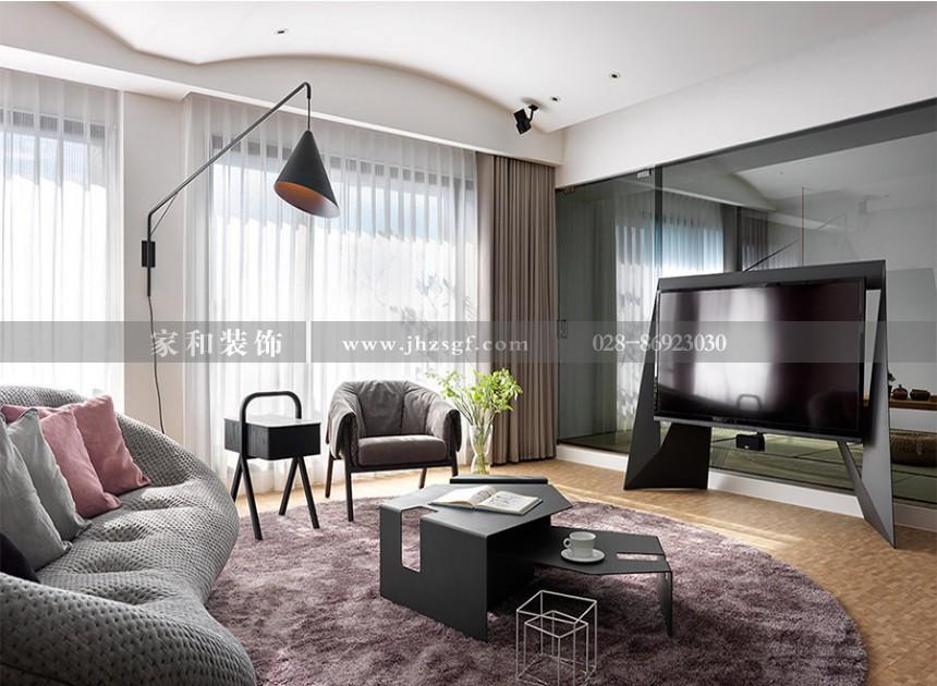 中丝园现代简约风格150㎡五居室装修案例