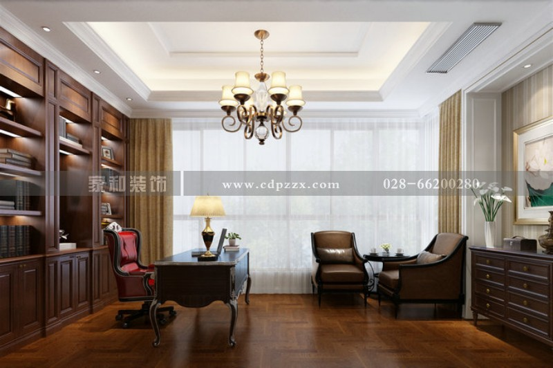 保利金香谷380㎡欧式风格装修案例