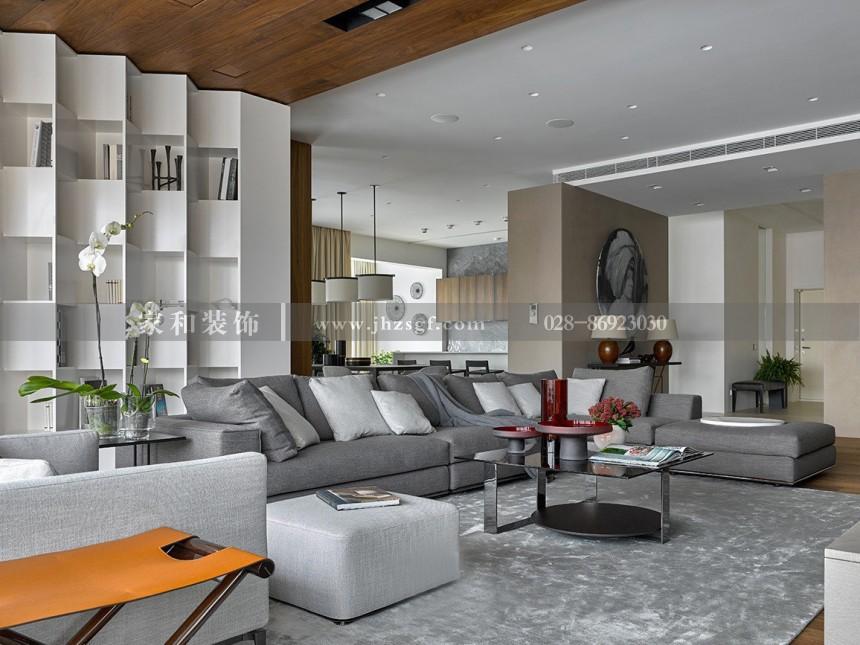 香碧歌现代商务五居室321㎡装修案例