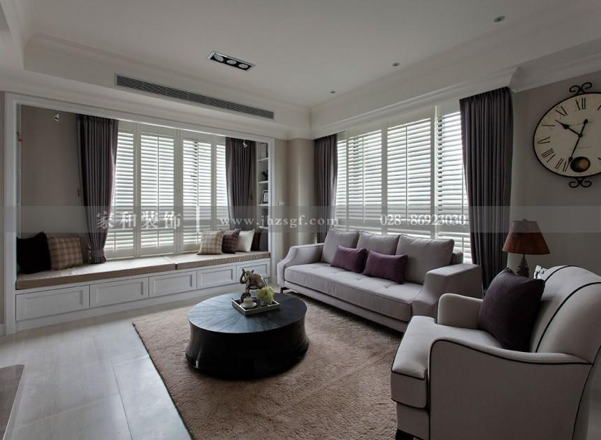 朗基天香现代简约风格88㎡二居室装修案例