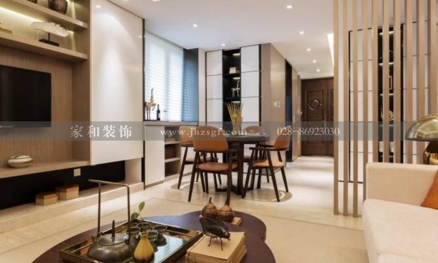 锦江逸家港式风格123㎡三居装修案例
