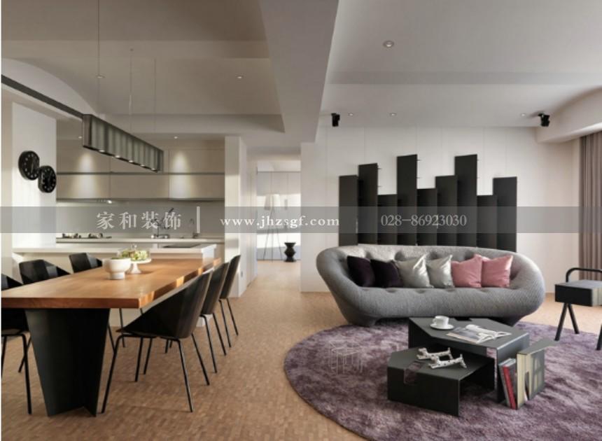 金阳易城国际简约风格套二82m²装修案例