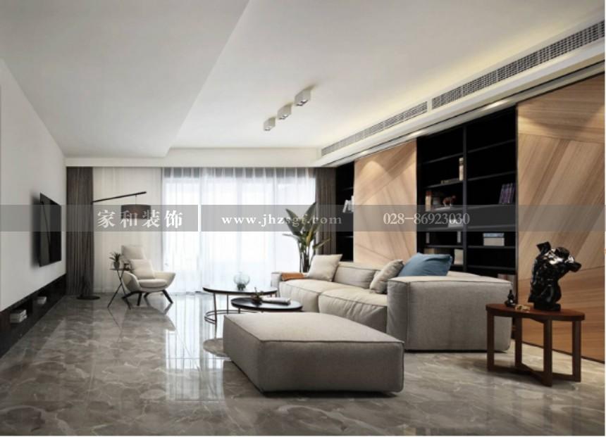 四海逸家现代简约风格套三130m²装修案例