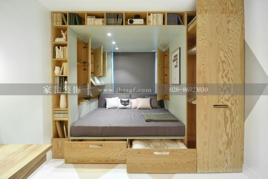 花语岸现代简约三居室111㎡装修案例