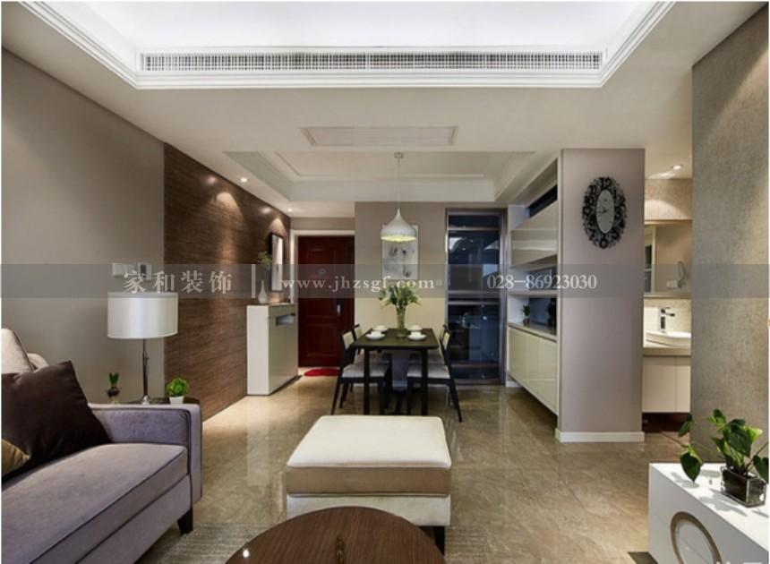 天府江南现代简约风格套二84m²装修案例