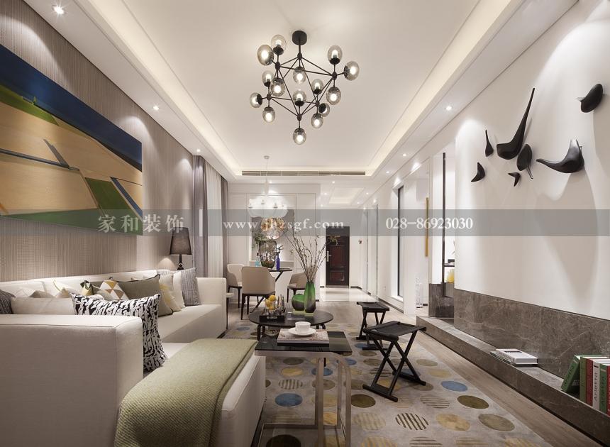 成怡嘉苑北欧风格3居105㎡装修案例