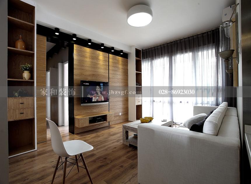 麓山国际圆石滩北欧风格3居120㎡装修案例