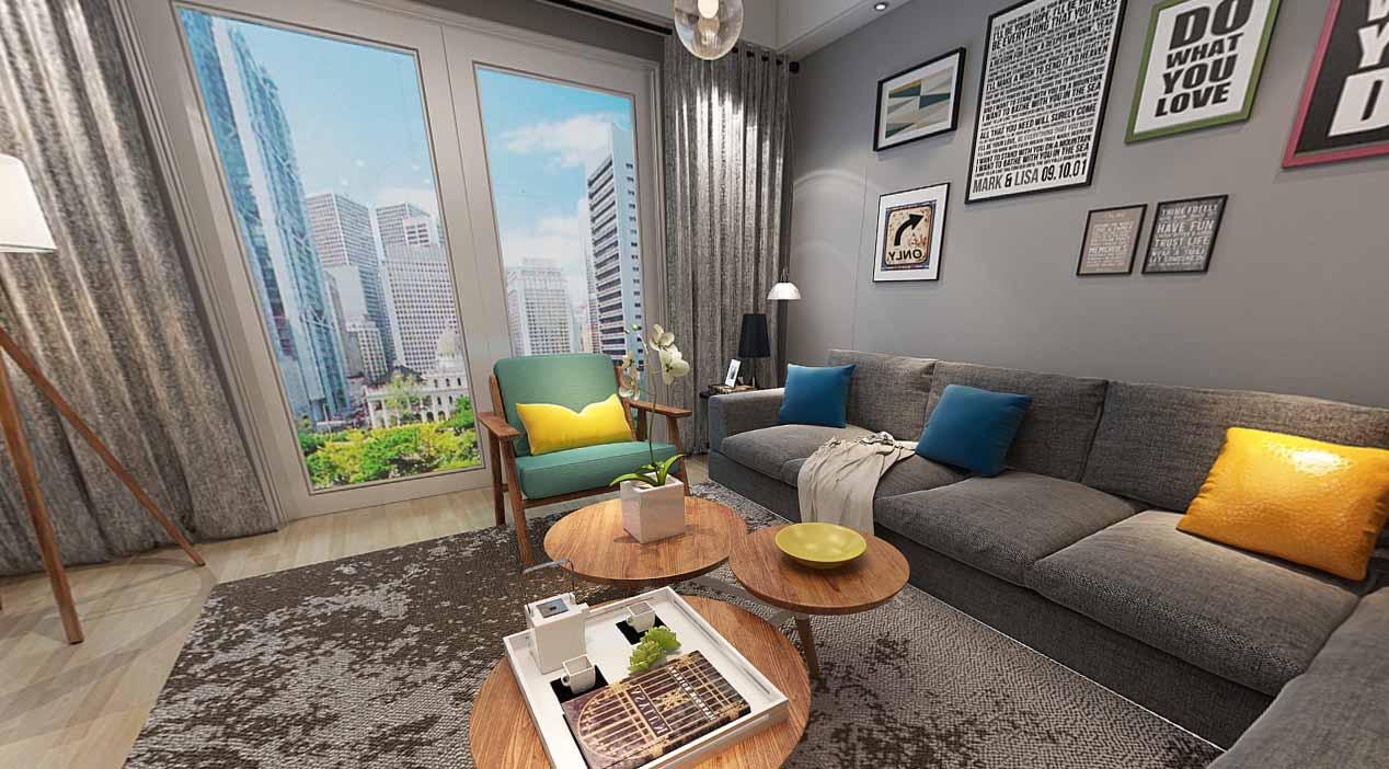 龙城国际北欧风格VR效果图