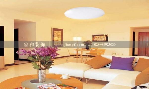 成都装修建议这样装修客厅吸顶灯