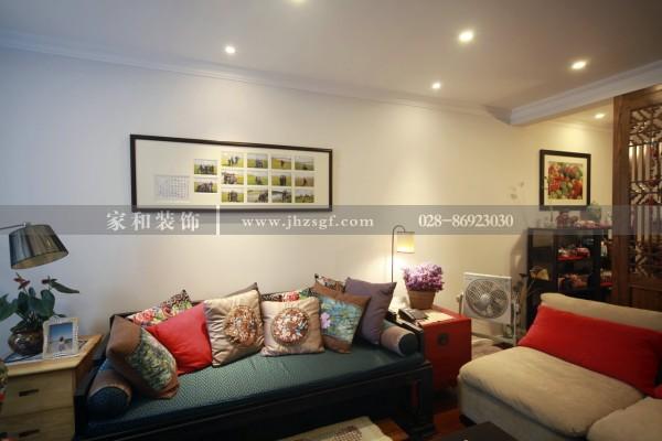 家和装饰实景案例:望江锦苑100平现代+中式风格的完美结合,家装全程化服务