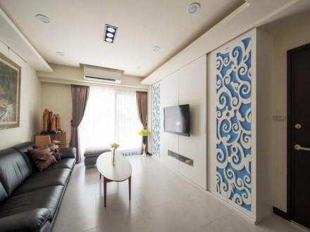 成都装饰温馨融洽的115平现代风格三居室赏析