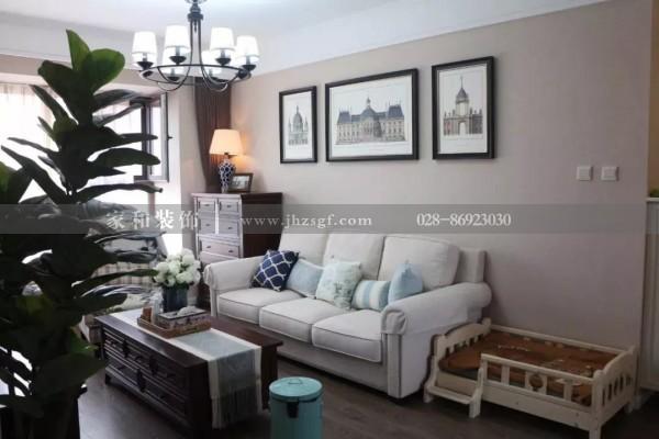 美式的客厅要华丽精致?成都家庭装修认为只要在沙发搭配稍加用心即可
