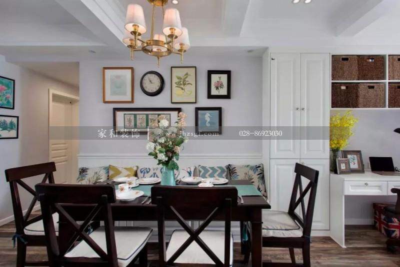 成都家庭装修认为餐厅的背景这样搭配,可以为您家增加独特的风景哟