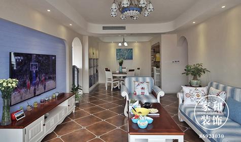 朗基天香117㎡地中海风格装修案例