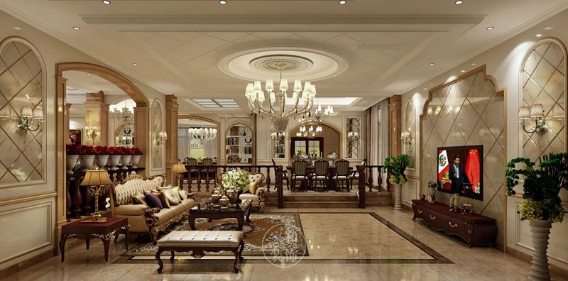 750㎡自建欧式别墅,超大空间展现美好而生动的典雅品味!
