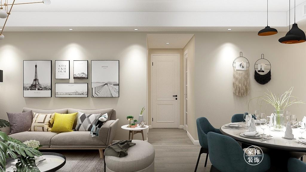 123㎡的三室两厅,简约而不简单的温馨舒适家!