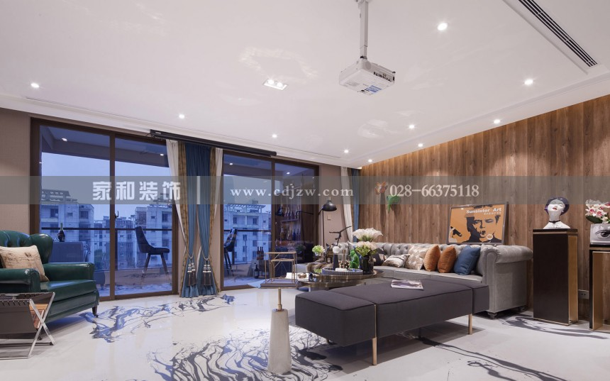 佳兆业广场现代奢华三居103㎡装修案例