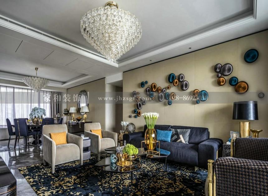 月映长滩新古典风格别墅420㎡装修案例