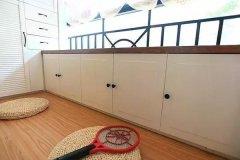 阳台可以这样打地柜,超漂亮实用!