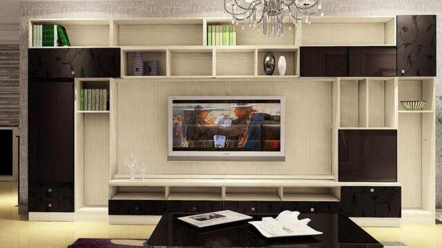 成都装修公司报价客厅电视墙改用直接打柜子这效果也没谁了