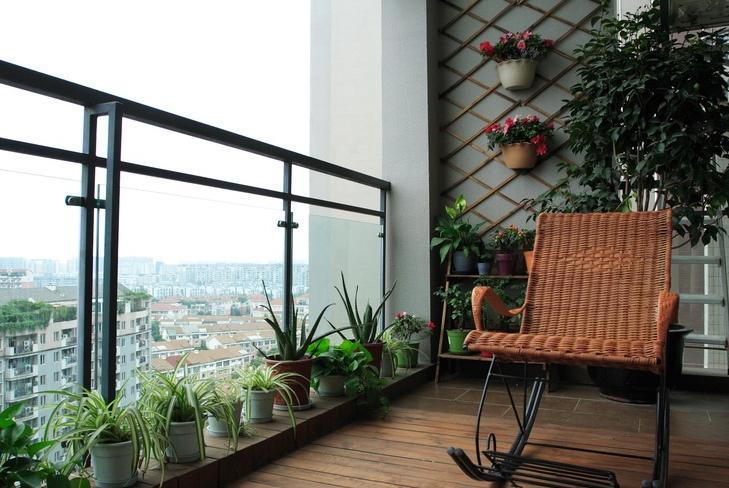成都室内设计这样的阳台装修设计朋友来了都选择在阳台了