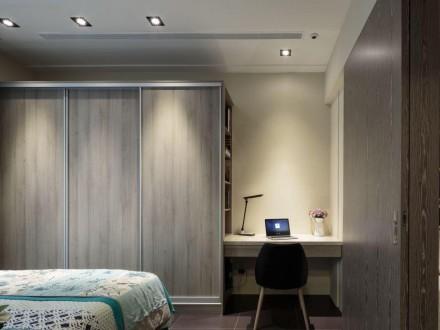 原木色的卧室衣柜,宁静自然舒适宜人