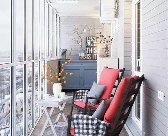 封闭式阳台设计欣赏,总有几款你喜欢的!