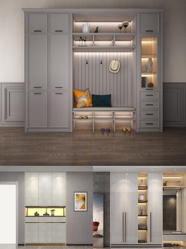 房子装修,玄关鞋柜设计,这样装好看实用